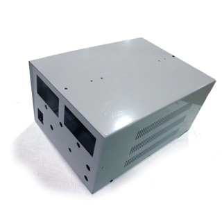 Factory custom fabrication enclosure for power supply