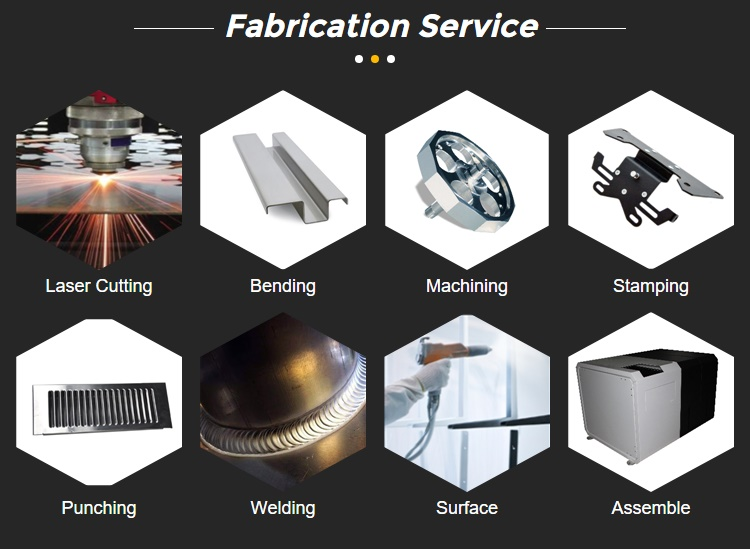 Custom stainless steel metal fabrication bending machine