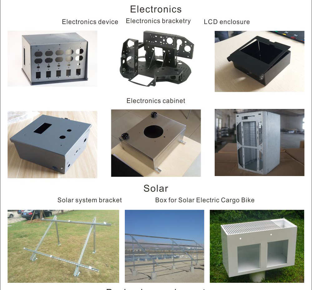 Custom outdoor sheet metal box case electrical electric electronic aluminum enclosure