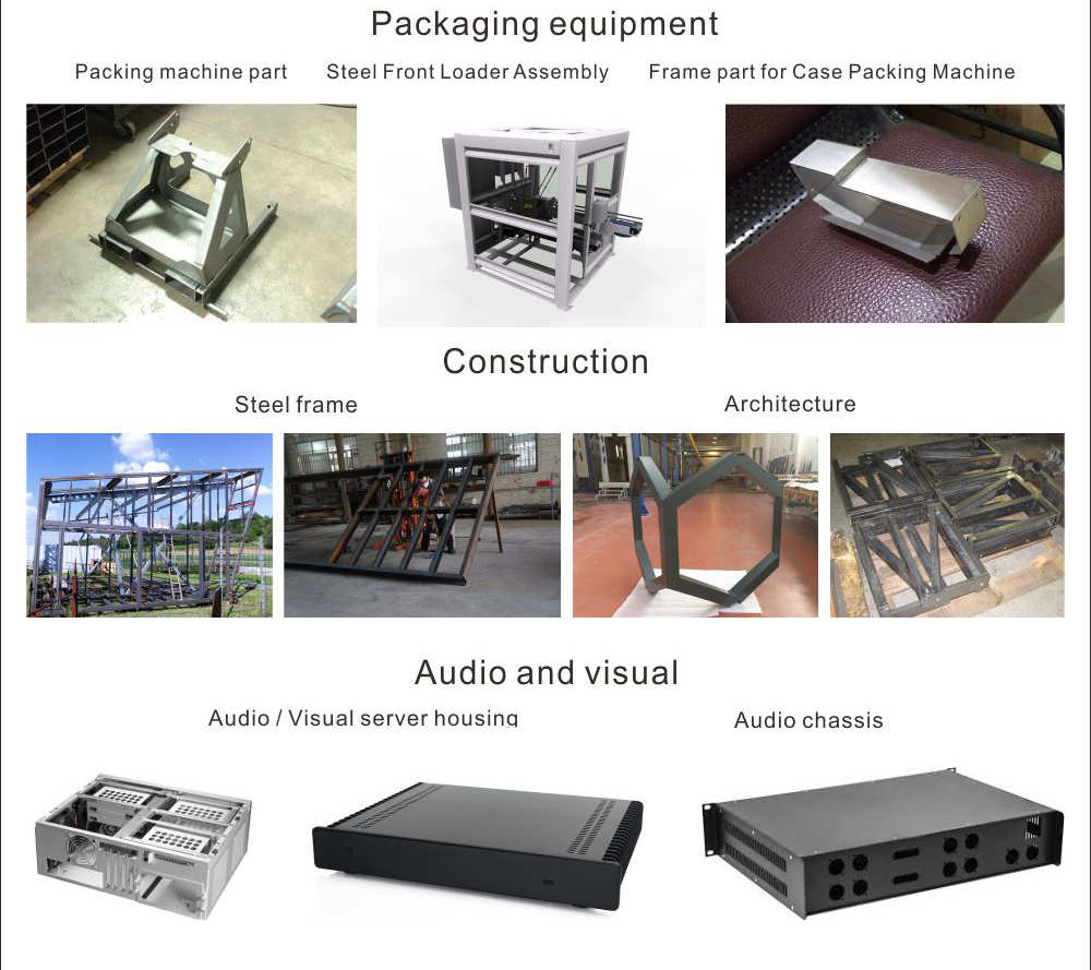 Custom sheet metal working folding metal enclosure