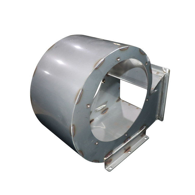Custom sheet metal blower enclosure and stainless steel brackets for railway system